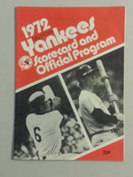1972 Yankees Game Program vs Tigers Scored Very Good