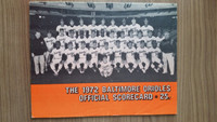 1972 BB Program Orioles vs White Sox (38 pg) Unscored Very Good to Excellent [Lineups WRT in pen but no scoring, lt wear]