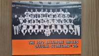 1972 BB Program Orioles vs Brewers (38 pg) Unscored Excellent [Lt wear, Lineups WRT in pen but no scoring]