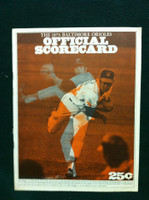1973 Orioles Game Program vs Angels Unscored (Line-Ups Only) Very Good to Excellent