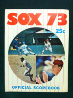 1973 White Sox Game Program vs Red Sox (36 pg) Unscored Series Played May 7-8 Excellent [Lt wear and creasing on both covers; contents fine]