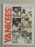 1974 Yankees Game Program June 26 vs Indian Scored Excellent to Mint