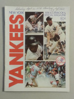 1974 Yankees Game Program September 21 vs Indians Scored Very Good