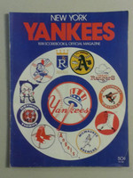 1974 Yankees Game Program April 7 vs Indians Scored Excellent to Mint