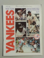 1974 Yankees Game Program vs Twins Scored Excellent to Mint