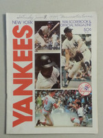 1974 Yankees Game Program June 8 vs Twins Scored Very Good to Excellent
