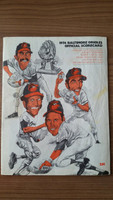1974 BB Program Orioles vs Yankees (36 pg) Unscored Fair to Good [Wear, creasing and lt evidence of moisture, some staining]