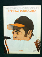 1974 Orioles Game Program vs Red Sox Unscored (Cuellar Cover) Near-Mint