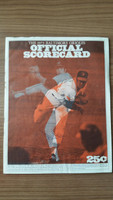 1973 BB Program Orioles vs Rangers (36 pg) Unscored Very Good [Wear and lt staining along binding, sl moisture on cover]
