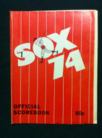 1974 White Sox Game Program vs Indians (44 pg) Unscored Good to Very Good [Cover loose at staples, tear on cover, crn tear on page; lineup part WRT in pen]