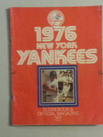 1976 Yankees Game Program June 23 vs Indians Scored Good to Very Good