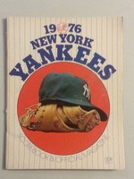 1976 Yankees Game Program vs Twins Unscored Excellent