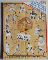 1978 Yankees Program vs Red Sox (58 pg) Unscored Excellent [Lt compact fold, ow clean]