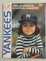1978 Yankees Game Program August 10 vs Brewers Scored Very Good to Excellent