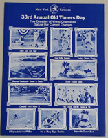 1979 Yankees Old Timer's Day Program (4 pg) Jul 22 - DiMaggio, Mantle,  Maris, Ford, Berra, Hank Aaron, Robin Roberts Near-Mint to Mint