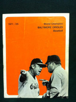 1971 Orioles Game Program vs Red Sox Unscored Excellent