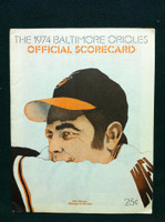 1974 Orioles Game Program vs Tigers Unscored Excellent