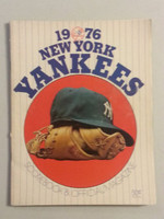1976 Yankees Game Program vs Brewers Unscored Excellent