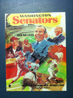 1970 Senators Program vs Angels 1 (40 pg) Unscored Near-Mint to Mint [Very sharp, feels like new]