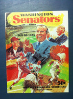 1970 Senators Program vs Angels 2 (40 pg) Unscored Near-Mint to Mint [Very sharp, feels like new]