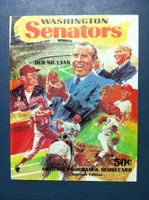 1970 Senators Program vs Angels 3 (40 pg) Unscored Near-Mint to Mint [Very sharp, feels like new]