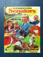 1970 Senators Program vs Angels (40 pg) Unscored Excellent to Mint [Sl wear on cover, feels like new]