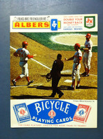 1970 Reds Scorecard vs Expos (4 pg) Bench Rose Perez Cover Unscored Excellent [Newsstand fresh copy; corner ding, ow sharp NMT]