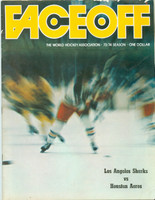 1973 WHA Program Los Angeles Sharks vs Houston Aeros Excellent