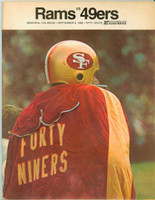 1968 NFL Program Rams vs 49ers Sep 6 1968 Excellent to Mint