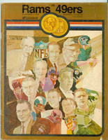 1969 NFL Program Rams vs 49ers Nov 9 1969 Very Good