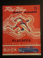 1952 NHL Program Stanley Cup Semi-Finals Red Wings vs Maple Leafs Near-Mint