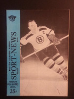 1953 NHL Program Stanley Cup Finals Bruins vs Canadiens Near-Mint