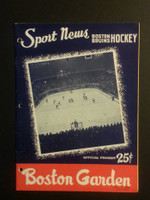 1958 NHL Boston Bruins Game Program vs Canadiens December 7 Dec 7 1958 Very Good to Excellent [[3 Hole Punches on left side, contents fine]]