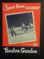 1959 NHL Boston Bruins Game Program vs Black Hawks February 5 Feb 5 1959 Very Good to Excellent [[3 Hole Punches on left side, contents fine]]