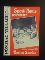 1960 NHL Boston Bruins Game Program vs Rangers New Years Day Jan 1 1960 Excellent [[3 Hole Punches on left side, contents fine]]