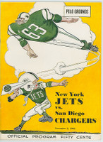 1963 AFL Program Jets vs Oilers Nov 2 1963 Near-Mint