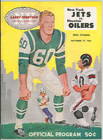 1964 AFL Program Jets vs Oilers Oct 17 1964 Excellent to Mint