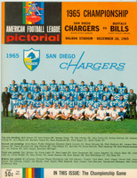 1965 AFL Championship Program Chargers vs Bills Dec 26, 1965 Dec 26 1965 Near-Mint to Mint [Immaculate condition]