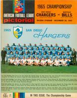 1965 AFL Championship Program Chargers vs Bills Dec 26 1965 Near-Mint [Lt wear on cover, ow very clean]