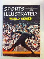 1957 Sports Illustrated September 30 World Series - from the Red Schoendienst collection Good to Very Good Heavy wear and creasing on cover, contents fine