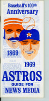 1969 Astros Media Guide (62 pages) Near-Mint [Very clean]