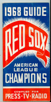 1968 Red Sox Media Guide (40 pages) Excellent [Sl warping from moisture, pages clean]