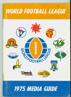 1975 World Football League Media Guide (100 pg) - Loaded with team information Near-Mint [Very clean]