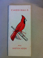 1952 St Louis Cardinals Media Guide 'Sketch Book' (32 pg) - Loaded with team information (from the Red Schoendienst collection) Excellent