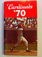 1970 St Louis Cardinals Media Guide (118 pg) - Loaded with team information (from the Red Schoendienst collection) Excellent