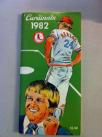 1982 St Louis Cardinals Media Guide (112 pg) - Loaded with team information (World Champs!) (from the Red Schoendienst collection) Near-Mint