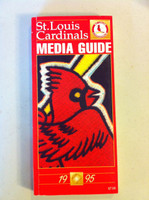 1995 St Louis Cardinals Media Guide (252 pg) - Loaded with team information (from the Red Schoendienst collection) Near-Mint