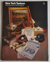 1981 Yankees Program vs Orioles (58 pg) Unscored Excellent [Lt wear, overall clean]