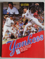1986 Yankees Program vs Red Sox (74 pg) Unscored Excellent [Lt cover creases, ow clean]