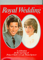 The Royal Wedding of Prince Charles and Diana Spencer - Commerative Book (162 pages) (from the Red Schoendienst collection) Near-Mint [Minor crease on top right corner, otherwise very fresh]